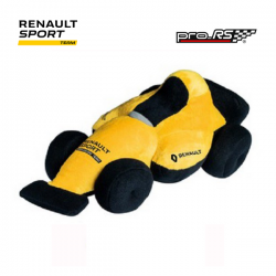 Peluche RENAULT SPORT voiture jaune - Formule 1