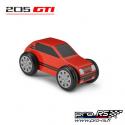 Peugeot 205 GTi en bois Rouge