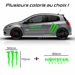 Kit stickers Monster Energy Vert Fluo