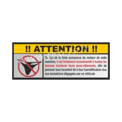 Sticker Attention délire