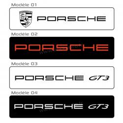 Cache plaque Porsche A