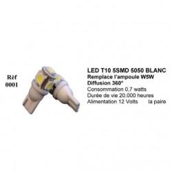 Ampoule Led T10 W5W Blanc (0001)