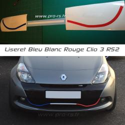 Liseret de Lame Clio 3 RS 2 Bleu Blanc Rouge