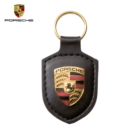 Porsche Porte-clés écusson, noir