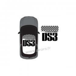 Stickers de toit Citroën DS3 Racing