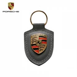 Porsche Porte-clés écusson Gris anthracite