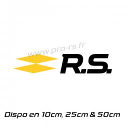 Sticker Renault RS 17 noir et jaune