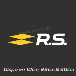Sticker Renault RS 17 blanc et jaune