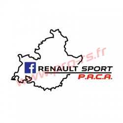 Sticker Renault Sport PACA Couleur 2017