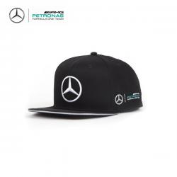 Casquette plate MERCEDES AMG Lewis Hamilton noire - Formule 1