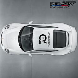 Sticker 70ans Porsche