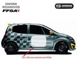 Fond numéro de course FFSA 70x50cm