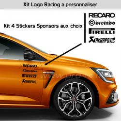 Kit 4 Stickers Sponsors à personnaliser