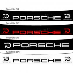 Bandeau pare soleil Porsche 70ans