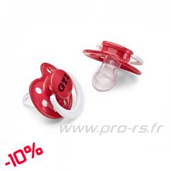 Lot 2 Tétines VOLKSWAGEN GTI rouge - Sportswear
