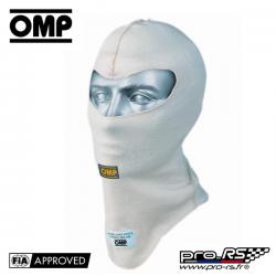 Cagoule FIA Ouverte OMP 2 épaisseurs Nomex Ecru