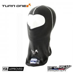 Cagoule ouverte FIA TURN ONE Pro noir/gris - Compétition