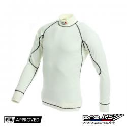 T-shirt FIA manches longues TURN ONE Pro écru/noir