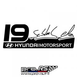 Sticker Loeb Elena 19 Go World Rally