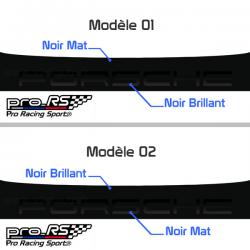 Bandeau pare soleil Porsche Noir Mat Brillant