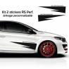 Kit 2 Stickers Latéraux RS Performance Renault
