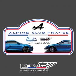 Plaque de Rallye Tour de Corse 2019 en autocollant