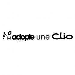 Sticker Adopte une Clio
