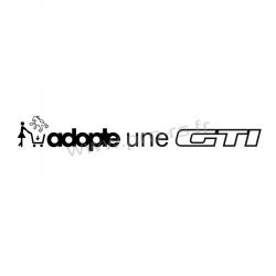 Sticker Adopte une GTi