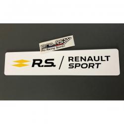 Cache plaque Renault Sport RS Blanc Eco