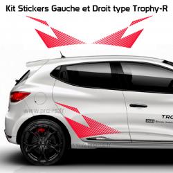 Kit 2 Stickers Latéraux RS Performance Renault Strippe