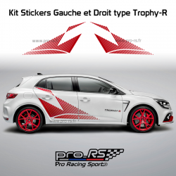 Kit 2 Stickers Latéraux XL Renault Sport type Trophy-R pour Clio 4