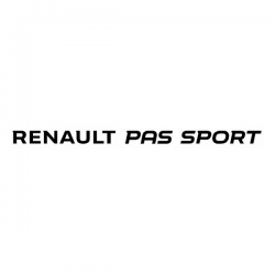Sticker Renault Pas Sport