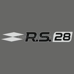Sticker Club RS 28 Gris alu et noir