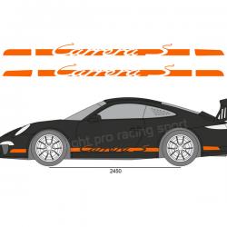 Kit 2 Bandes latérales Porsche Carrera