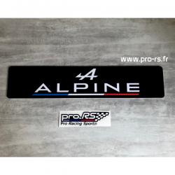 Cache plaque Alpine Noir Eco