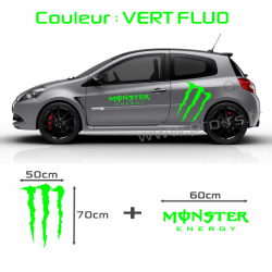 Kit stickers Monster Energy Vert Fluo