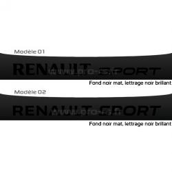 Bandeau pare soleil Renault Sport Mat Brillant