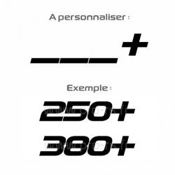 Sticker CV personnalisable ex 380+
