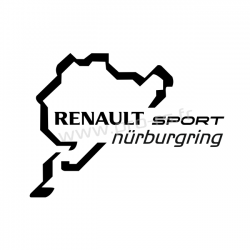 Sticker Nurburing Renault Sport