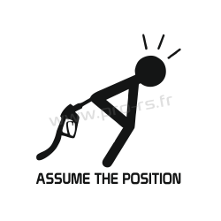 Sticker Assume the position