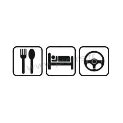 Sticker Eat Sleep Drive