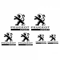 Kit 6 Stickers Peugeot Sport