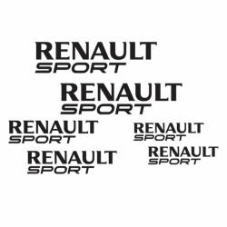 Kit 6 Stickers Renault Sport
