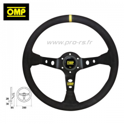Volant OMP Corsica Cuir Argent