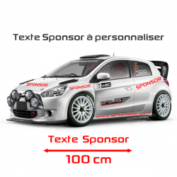 Lettrage Sponsor 100cm
