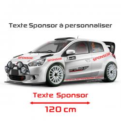 Lettrage Sponsor 120cm