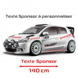 Lettrage Sponsor 140cm