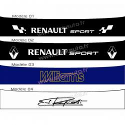 Bandeau pare soleil Renault Sport C