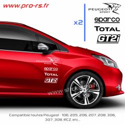 Kit 8 Stickers Peugeot Sport Pack