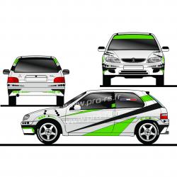 Kit déco Rallye Saxo VTS 100915